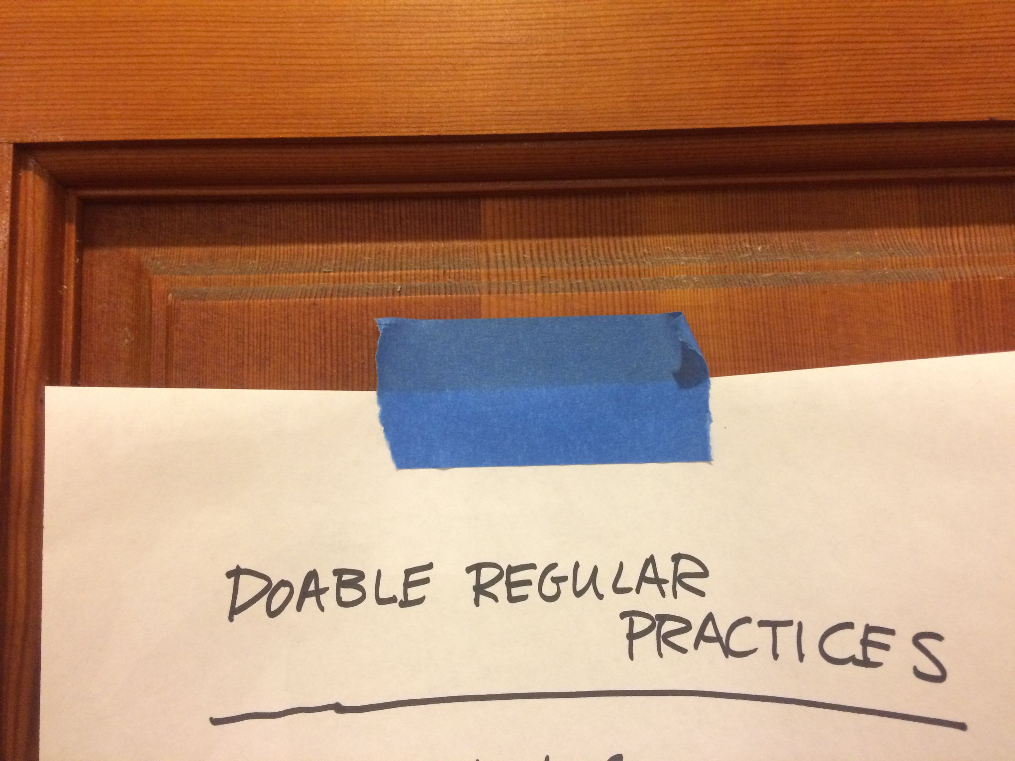 Doable Regular Practices