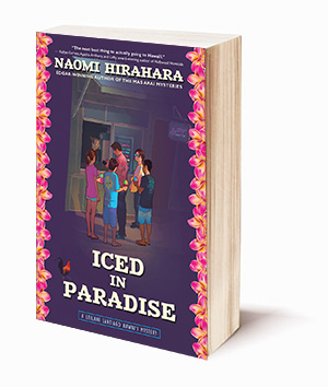cover of ICED IN PARADISE by Naomi Hirahara